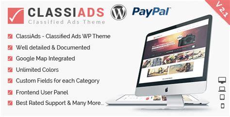 themeforest classified theme classiads classified ads wordpress theme themeforest