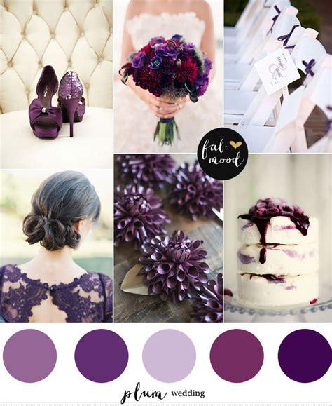 plum wedding colors plum wedding color palette