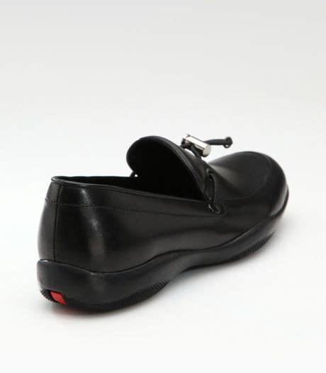 prada toggle loafers prada toggle loafers in black lyst