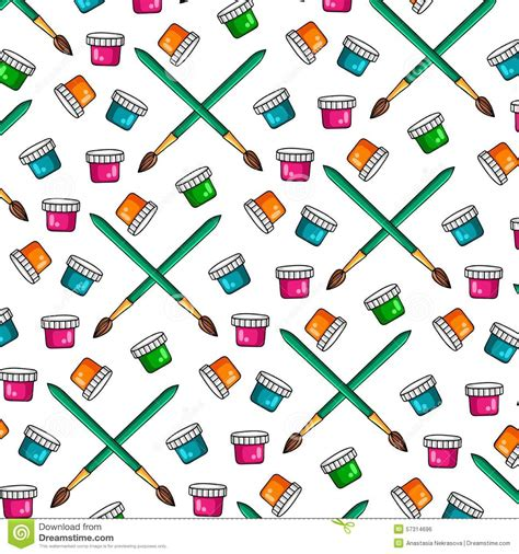 paintbrush pattern color paint cans with brush stock photo cartoondealer