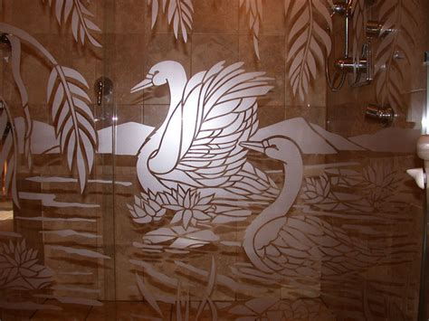 Swan Shower Doors Swan On Bathroom Shower Doors Transitional Bathroom New York By For Glass By Nuetch