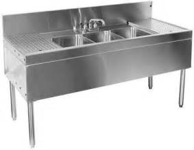 10 Wide Bar Sink by Glastender Tsa 60 S 60 Quot Three Compartment Bar Sink