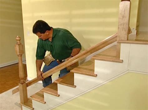Installing Stair Banister how to install new stair treads and railings how tos diy