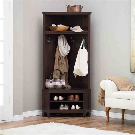 hall trees with storage bench corner hall tree with storage bench home furniture design
