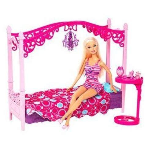 barbie bedroom furniture sets barbie glam bedroom furniture and doll play set walmart com