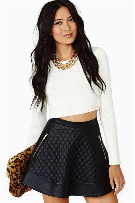 20343 Comfy Leopard White 25 best ideas about leather skater skirts on skater skirt basic wardrobe