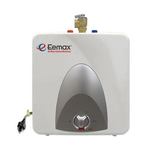 5 gallon electric tank water heater eemax emt1 electric mini tank water heater 1 5 gallon