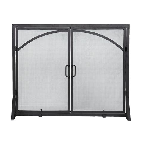 achla designs x800280 black fireplace screen with doors