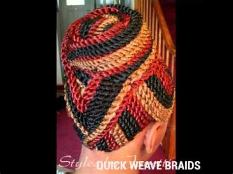 braided quick weave hairstyles quick weave braids bonded braids glue on braids youtube