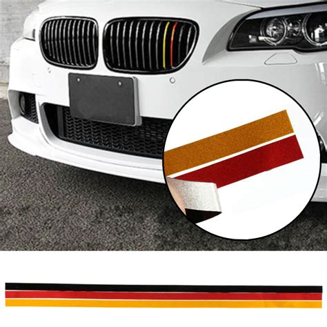 Sticker Mio M3 Striping Carbon Stripes m sport grille grill vinyl sticker decal for bmw m3 m5 e46 e90 german flag sale banggood