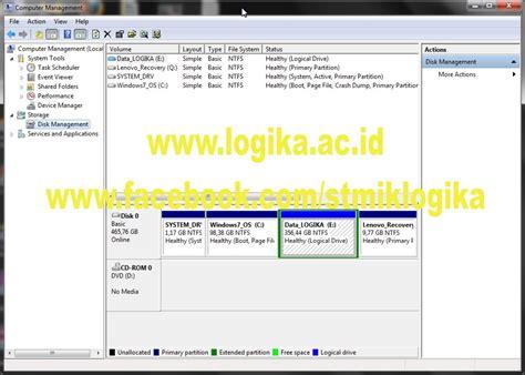 Harddisk Medan stmik amik logika medan cara partisi harddisk tanpa format