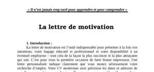 Exemple De Lettre De Motivation Facteur Lettre De Motivation Universit 233