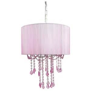 Shaded Chandelier And 1 Light Pink Sapphire Shaded Chandelier By Sleeping Partners