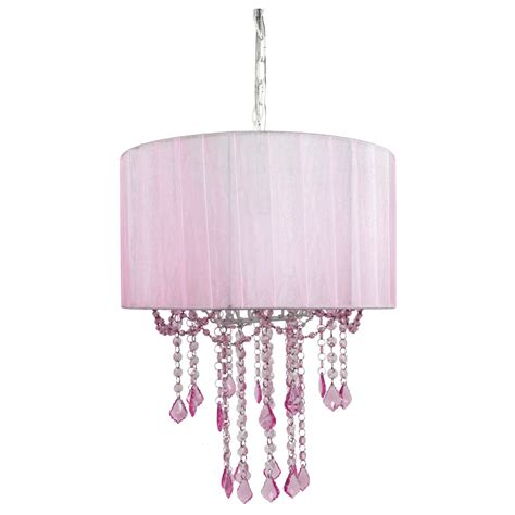 Sapphire Lighting by 1 Light Pink Sapphire Shaded Chandelier By Sleeping Partners
