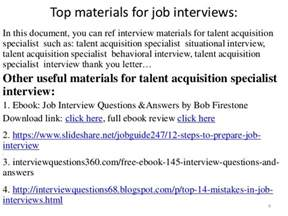 Talent Acquisition Specialist Cover Letter by Performance Evaluation Performance Evaluation Talent Acquisition Specialist 74