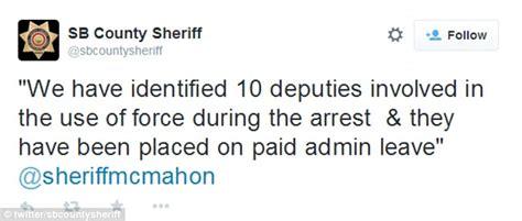 San Bernardino County Sheriff Warrant Search Fbi Civil Rights Investigation Into Ten California