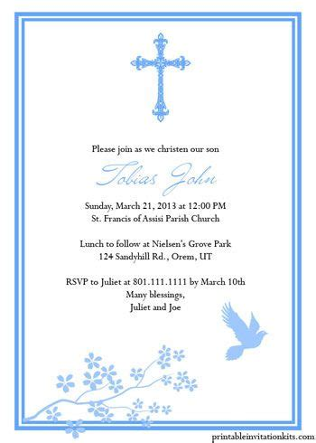 17 best ideas about christening invitations boy on