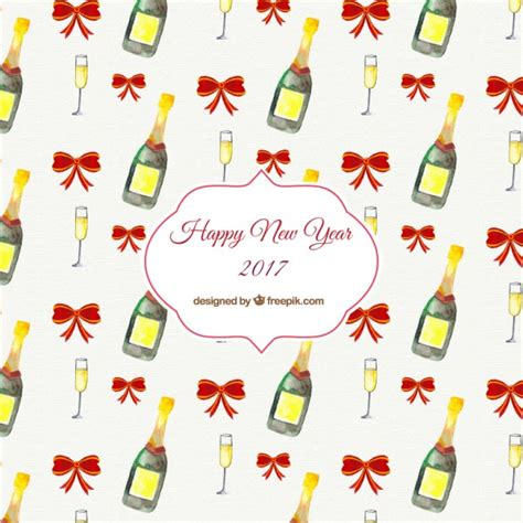 new pattern vector hand painted new year pattern vector free download
