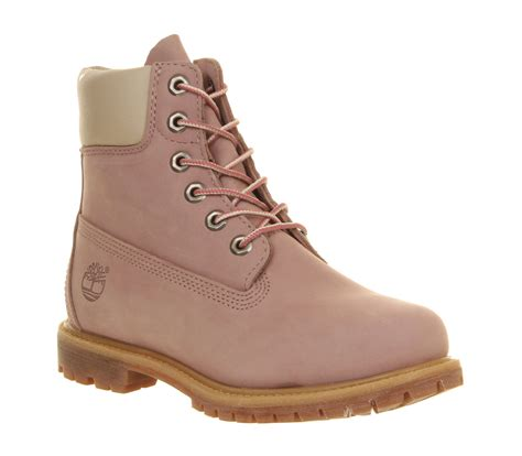 light pink boots timberland premium 6 boots light pink nubuck ankle boots