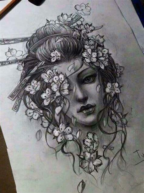tattoo geisha sketch tattoos tattoos tattoos tattoo ideas pinterest