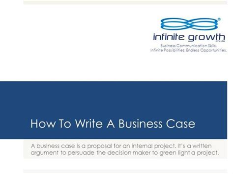 how to write a business case authorstream