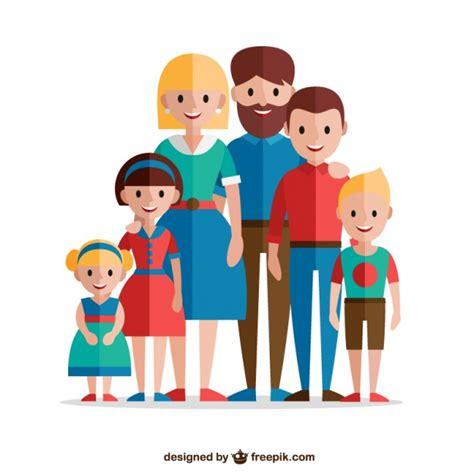 imagenes de la familia monster gratis familia adorable en dise 241 o plano descargar vectores gratis