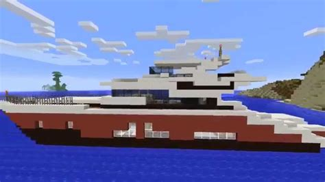 how to make a big yacht in minecraft minecraft yacht added flybridge review youtube
