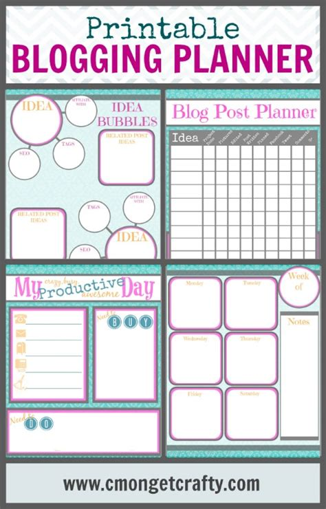 free printable blog planner pages printable blog planner downloads