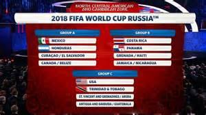 World Cup Qualification 2018 Calendar Concacaf World Cup 2018 Qualifying Draw