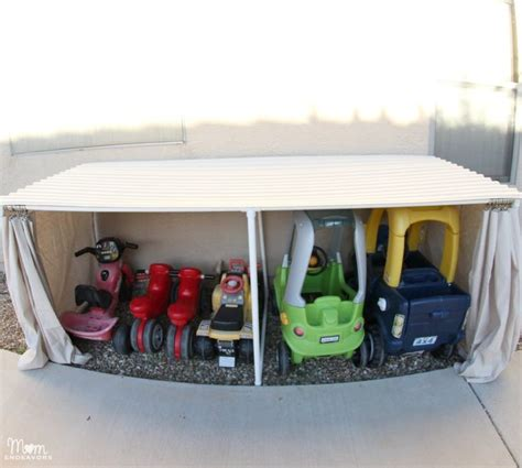 Pvc Garage Storage Ideas Diy How To Make A Covered Outdoor Storage Space Using