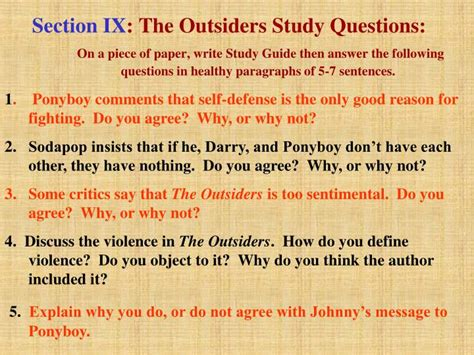 important themes in the outsiders ppt critical analysis of the outsiders powerpoint