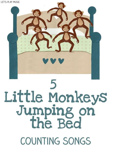 monkeys jumping on the bed lyrics 79 best educational songs rhymes fingerplays images on