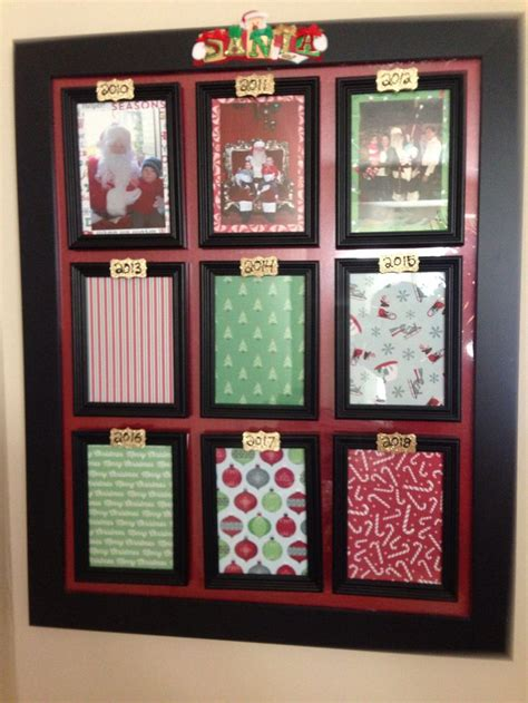 frame  spots  yearly santa pictures christmas card crafts christmas crafts decorations