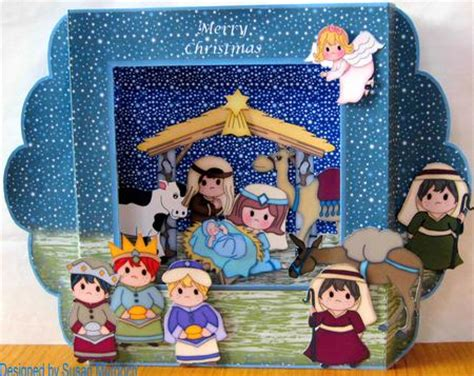 frame pop up card template nativity diorama card kit cup276183 489 craftsuprint