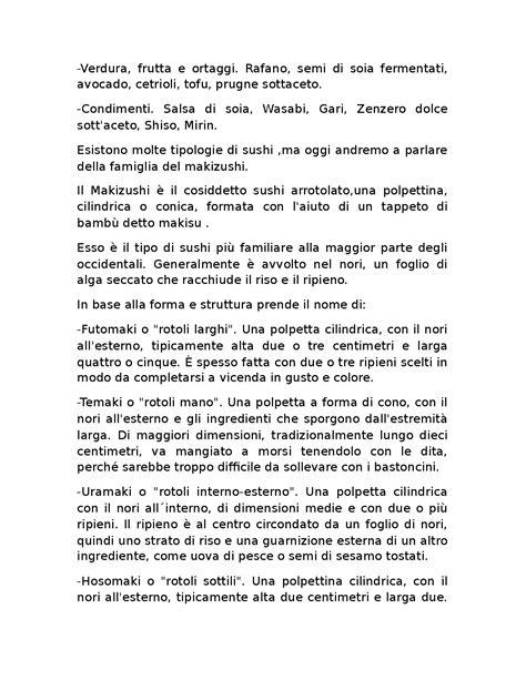 tesina alberghiero cucina tesina maturit 224 alberghiero sul sushi docsity
