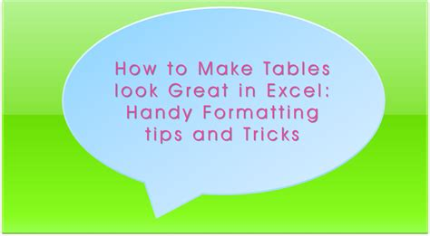 tips and tricks to create a table of contents in word 2010 8 tips how to make excel tables look exceldemy