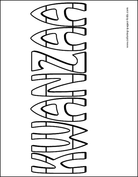 printable kwanzaa template kwanzaa coloring page for kids printable coloring pages