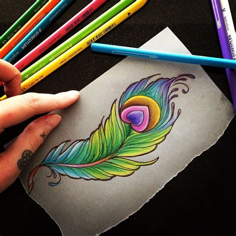 easy tattoo of peacock feather 35 colorful peacock feather tattoo meaning designs 2018