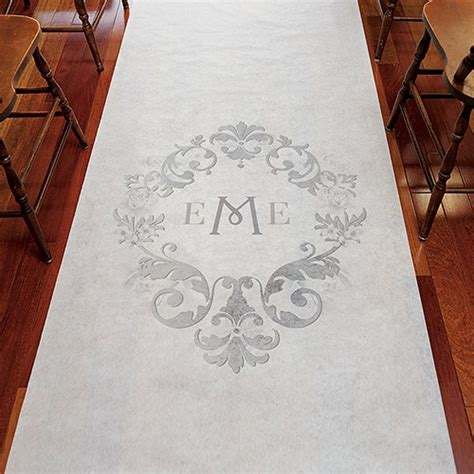 Wedding Aisle Runner Monogram by Monogram Simplicity Personalised Aisle Runner Confetti Co Uk