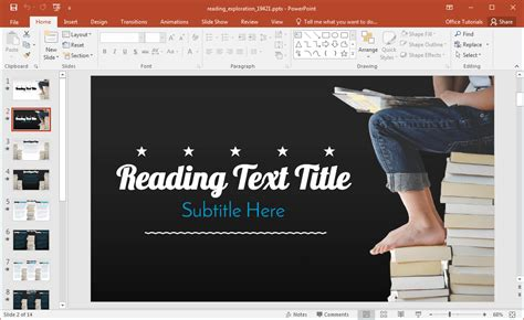Animated Reading Powerpoint Template Free Reading Powerpoint Templates