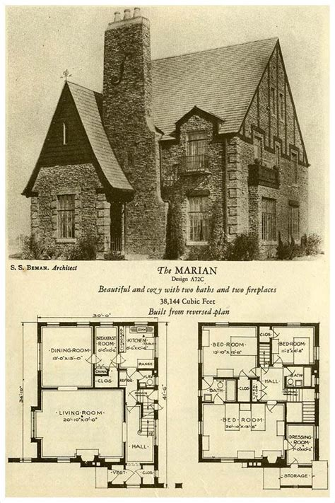 tudor house plans 1920 s 1927 brick houses the marian planz pinterest brick