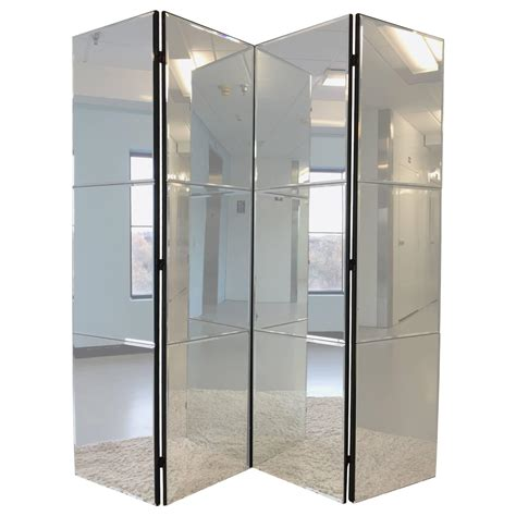 Mirror Room Divider Beveled Mirrored Screen Room Divider For Sale At 1stdibs