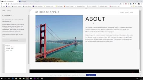 Squarespace Tutorial Fixed Header In Brine Template Youtube Fixed Header Website Templates Free