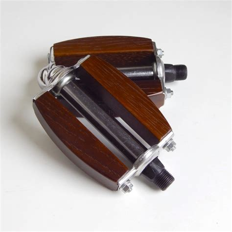 Handcrafted Bikes - pair of handcrafted wooden bicycle pedals recycle bicycle