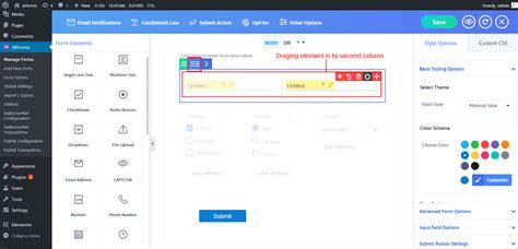 Multicolumn Resizable Best Wordpress Form Builder Plugin Arforms Mailchimp For Wordpress Mailchimp 4 Column Template