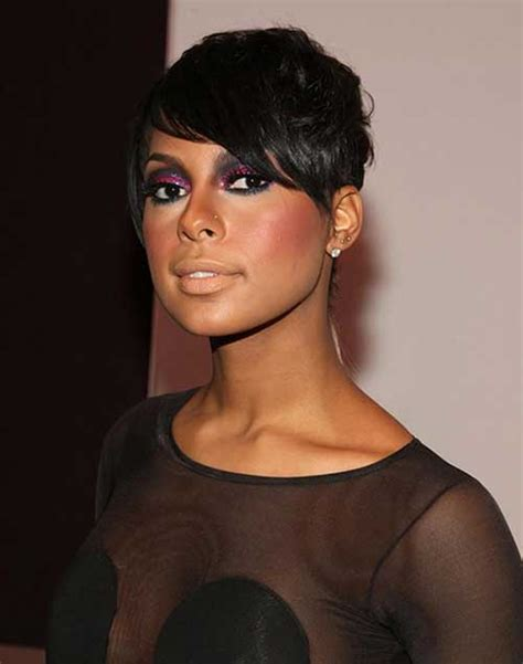 pixie haircuts for black women short hairstyles with bangs for black women short
