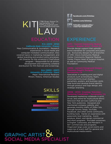 Resume About Me Creative creative graphic design resumes creative graphic resume cv