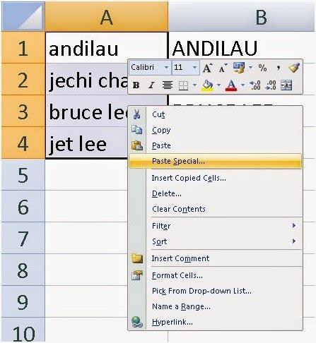 cara membuat huruf kapital menjadi huruf kecil di excel coretanku cara merubah huruf kecil menjadi huruf kapital
