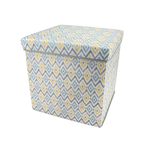 ikat storage ottoman essential home storage ottoman multicolor ikat