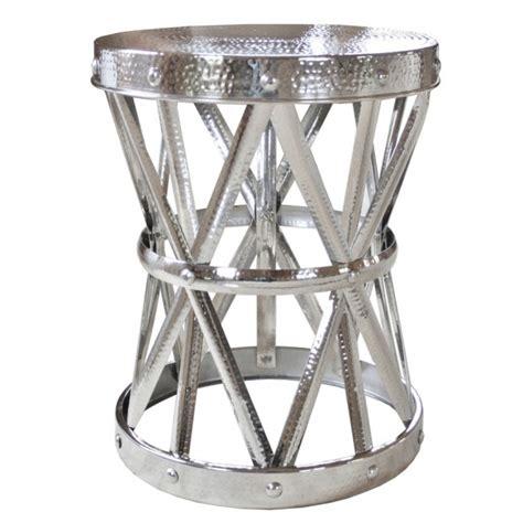 silver garden stool silver garden stool barrel table
